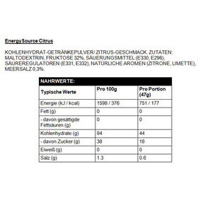 High5 EnergySource Advanced Sports Drink Tub 1,0kg Citrus